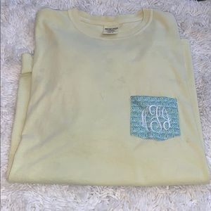 Monogram yellow T-shirt